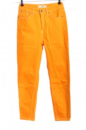 Topshop Hoge taille jeans licht Oranje casual uitstraling