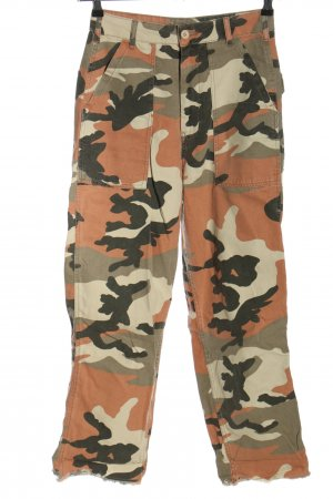 Topshop High Waist Jeans Camouflagemuster Casual-Look