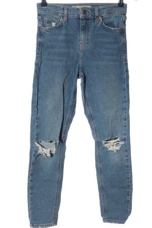 Topshop Jeans a vita alta blu stile casual