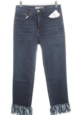 Topshop High Waist Jeans blue street-fashion look