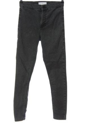 Topshop Jeans a vita alta grigio chiaro stile casual