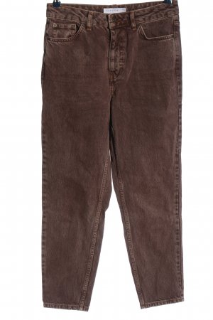 Topshop High Waist Jeans braun Casual-Look