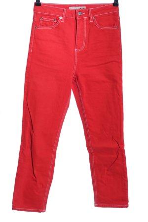 """Topshop High Waist Jeans """"MOTO"""" rot"""