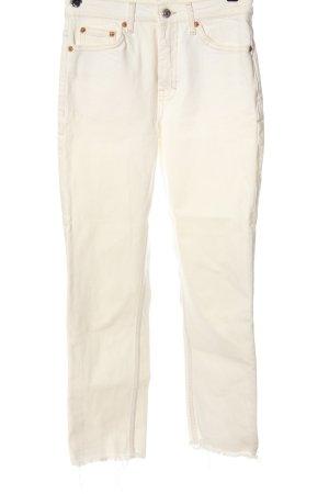 Topshop High Waist Jeans wollweiß Casual-Look