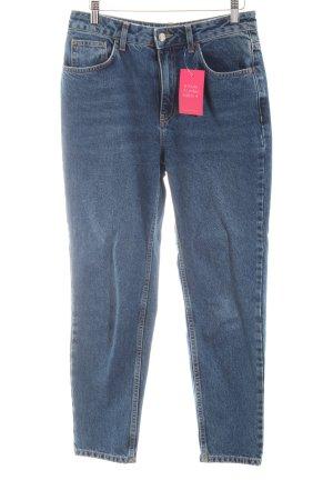Topshop High Waist Jeans graublau Jeans-Optik