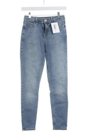 Topshop Hoge taille jeans lichtblauw Gemengd weefsel