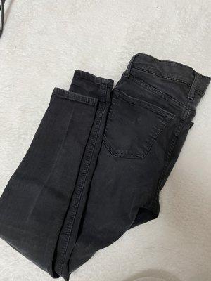 Topshop High Waist Jeans Jamie Schwarz Dunkelgrau Skinny
