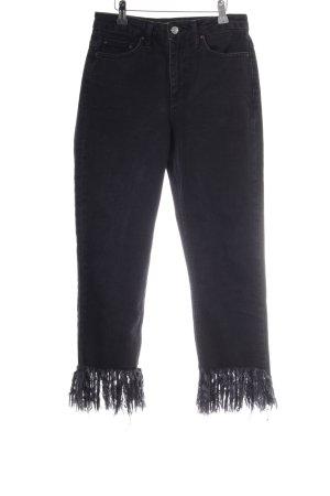 Topshop Hoge taille jeans zwart Boho uitstraling