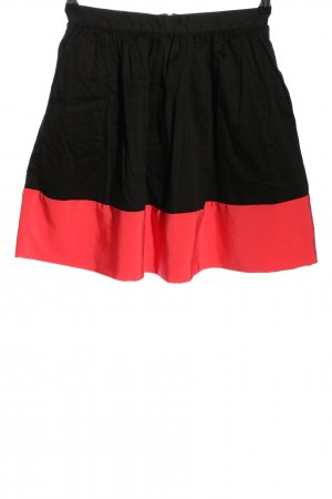 Topshop High Waist Rock schwarz-rot Casual-Look