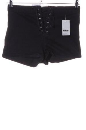 Topshop High-Waist-Shorts schwarz Casual-Look