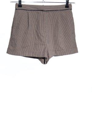 Topshop High-Waist-Shorts braun Allover-Druck Business-Look