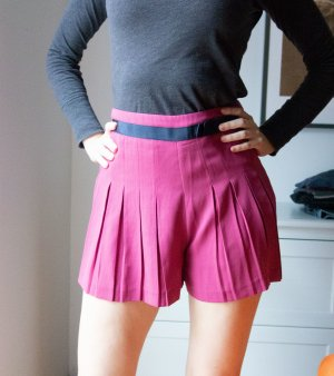 Topshop Highwaisted Shorts Plissée Pink Rosa Gr. 38