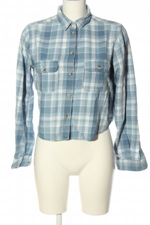 Topshop Lumberjack Shirt blue-white check pattern casual look