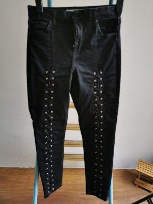 Topshop Moto Jeans de moto noir-argenté