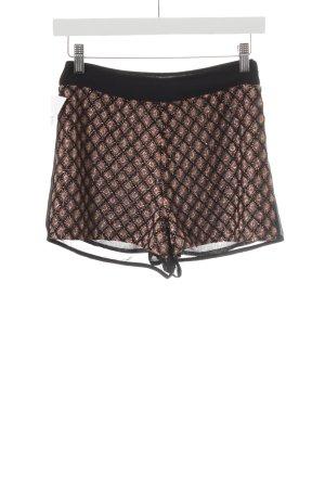 Topshop Hot Pants schwarz-rostrot Elegant