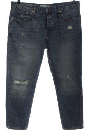 Topshop Jeans vita bassa blu stile casual