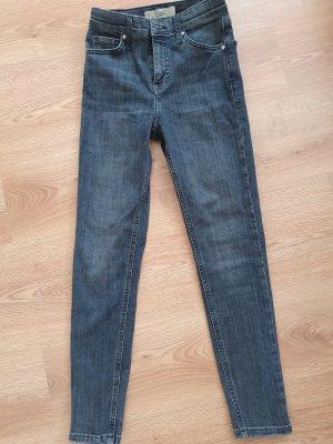 Topshop Slim Jeans dark blue