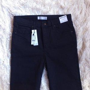 Topshop Hoge taille jeans zwart