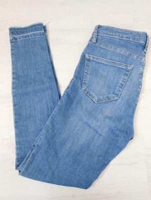 Topshop Jeans a vita alta blu fiordaliso