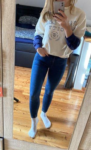 Topshop Drainpipe Trousers blue