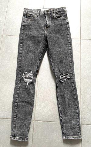 Topshop Jeans a vita alta grigio-antracite