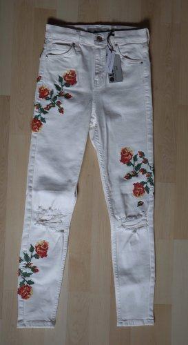 Topshop Jamie Jeans Weiß Größe 36