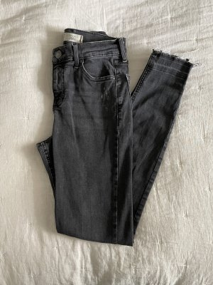 Topshop Jamie Moto Jeans Dunkelgrau
