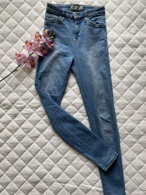 Topshop Jamie Skinny Jeans blau Größe 34