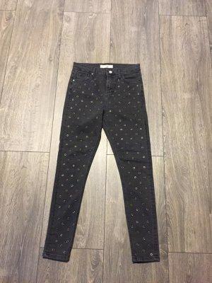 Topshop Hoge taille jeans grijs-donkergrijs