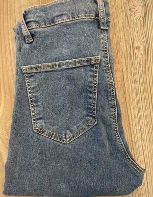 Topshop High Waist Trousers steel blue