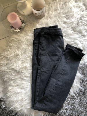 Topshop Jeans a vita alta nero-grigio scuro
