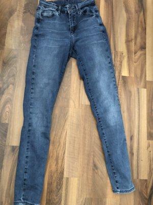 Topshop Jeans taille haute bleuet