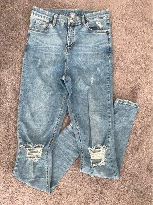 Topshop Skinny jeans blauw