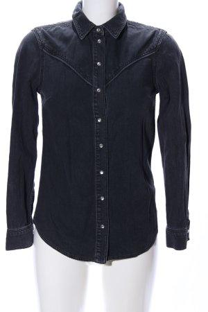 Topshop Jeansbluse schwarz Casual-Look