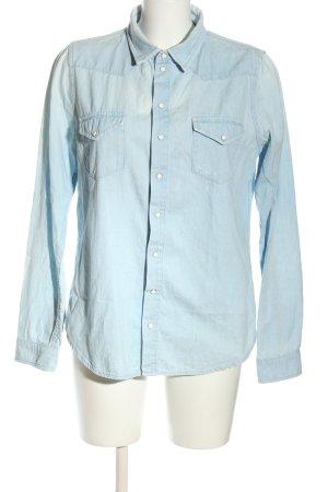 Topshop Jeansowa koszula niebieski W stylu casual
