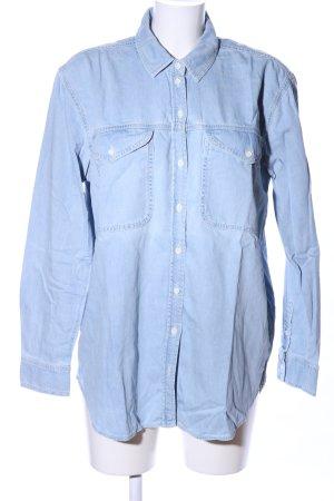 Topshop Jeanshemd blau Casual-Look