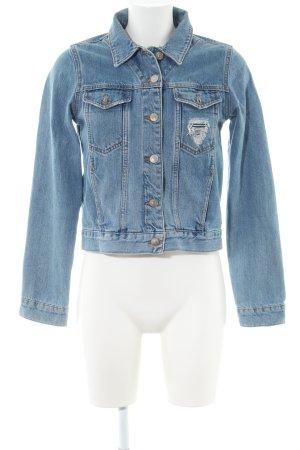 Topshop Jeansjacke blau Casual-Look