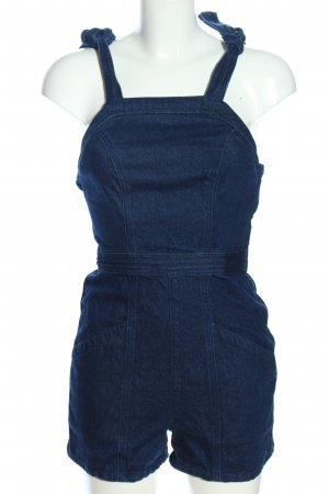 Topshop Jeanskleid schwarz-weiß meliert Casual-Look