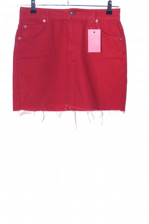 Topshop Jeansrock rot Casual-Look