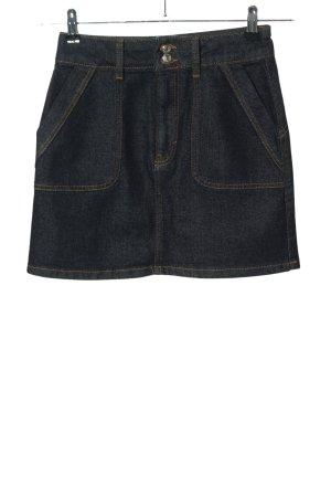 Topshop Jeansrock blau Streifenmuster Casual-Look
