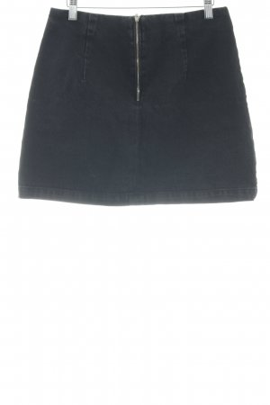 Topshop Denim Skirt anthracite casual look