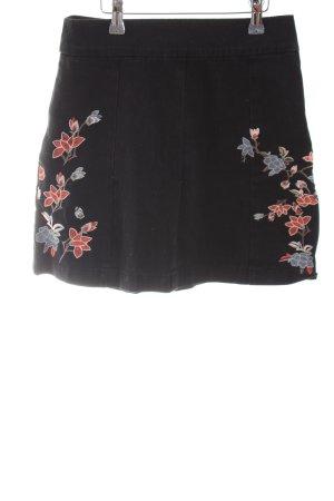 Topshop Jupe en jeans motif de fleur style décontracté