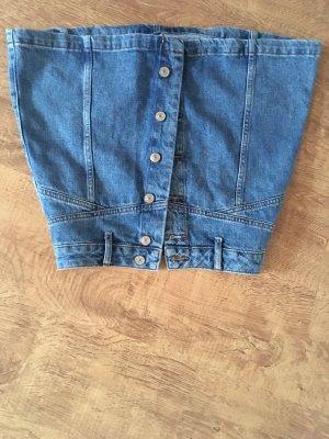 Topshop Jupe en jeans bleu