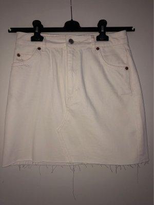 Topshop Jupe en jeans blanc-blanc cassé