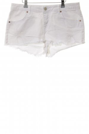 Topshop Jeansshorts weiß Allover-Druck Casual-Look
