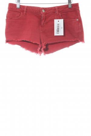 Topshop Jeansshorts dunkelrot Casual-Look