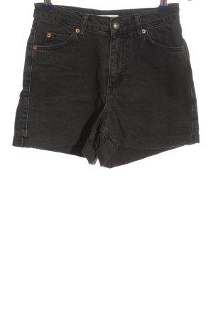 Topshop Jeansshorts schwarz Casual-Look