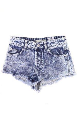 Topshop Shorts blue-neon blue-dark blue-azure cotton