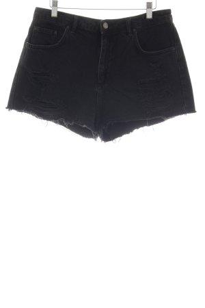 Topshop Jeansshorts schwarz