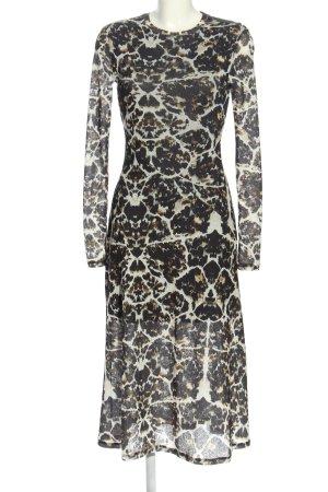 Topshop Blusenkleid schwarz-weiß abstraktes Muster klassischer Stil